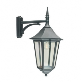 Elstead Lighting Valencia 1 Light Grande Down Lantern (VG2 BLACK)