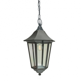 Elstead Lighting Valencia 1 Light Grande Chain Lantern (VG8 BLACK)